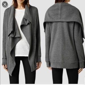 All Saints dahlia sweatshirt cardigan